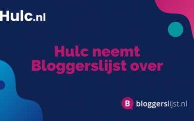 Hulc neemt Bloggerslijst over [PERSBERICHT]